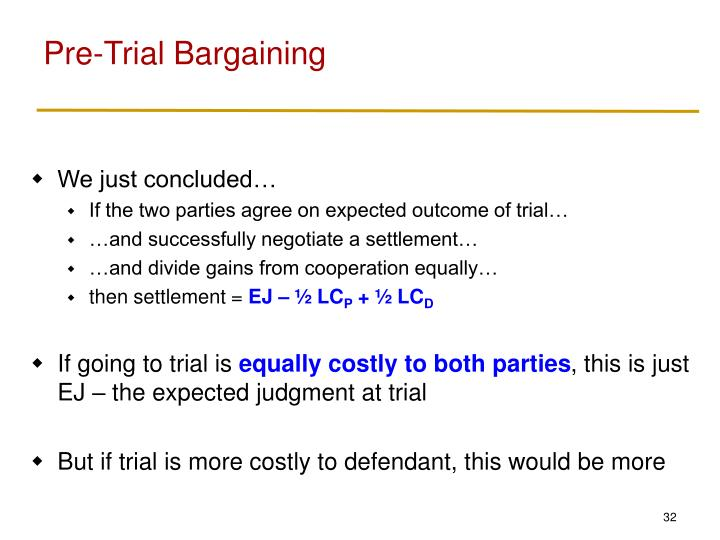 Pre-Trial Bargaining