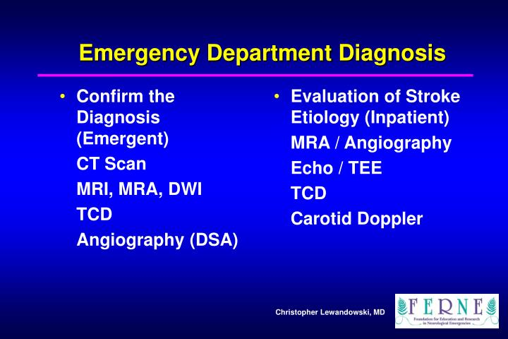 Confirm the Diagnosis (Emergent)
