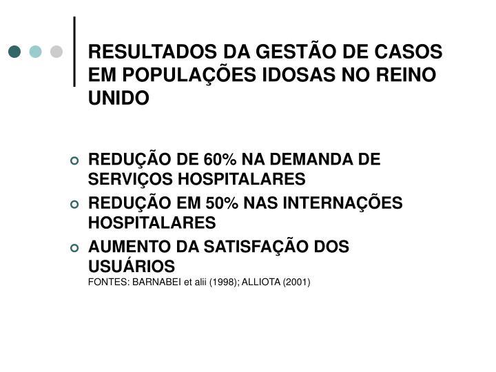 RESULTADOS DA GESTÃO DE CASOS EM POPULAÇÕES IDOSAS NO REINO UNIDO