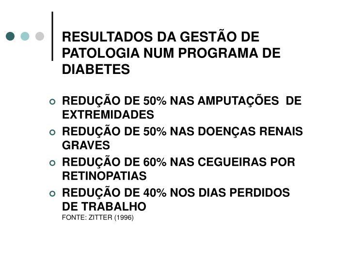 RESULTADOS DA GESTÃO DE PATOLOGIA NUM PROGRAMA DE DIABETES