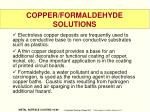 copper formaldehyde solutions