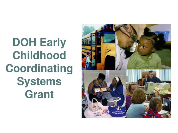 DOH Early Childhood Coordinating Systems Grant