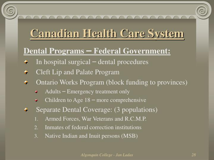 Canadian Health Care System