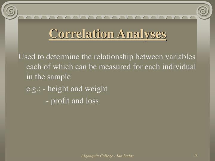 Correlation Analyses