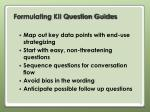 formulating kii question guides