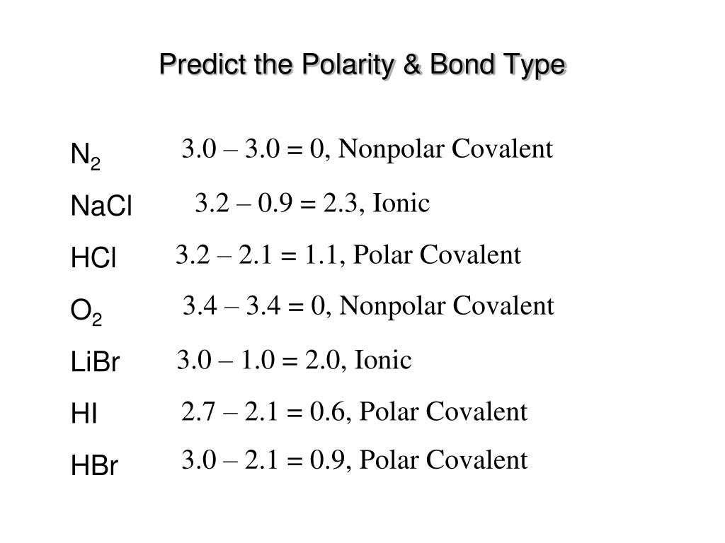 Ppt Polarity In Covalent Bonds Powerpoint Presentation Free Download Id 6725883
