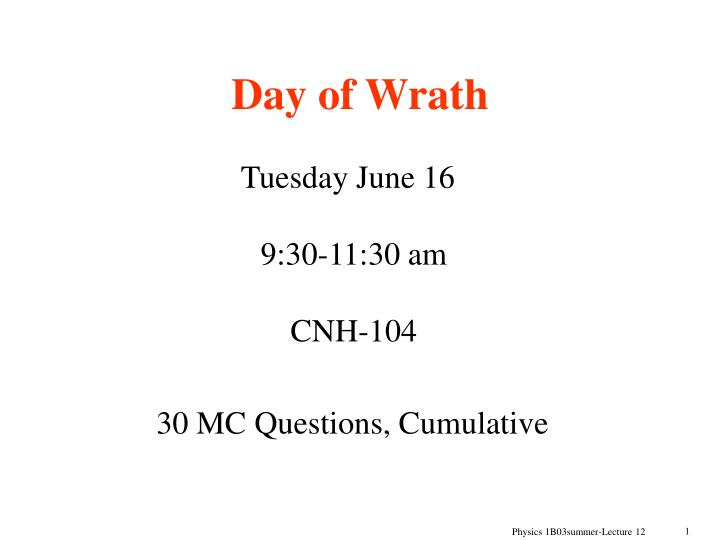 day of wrath n.