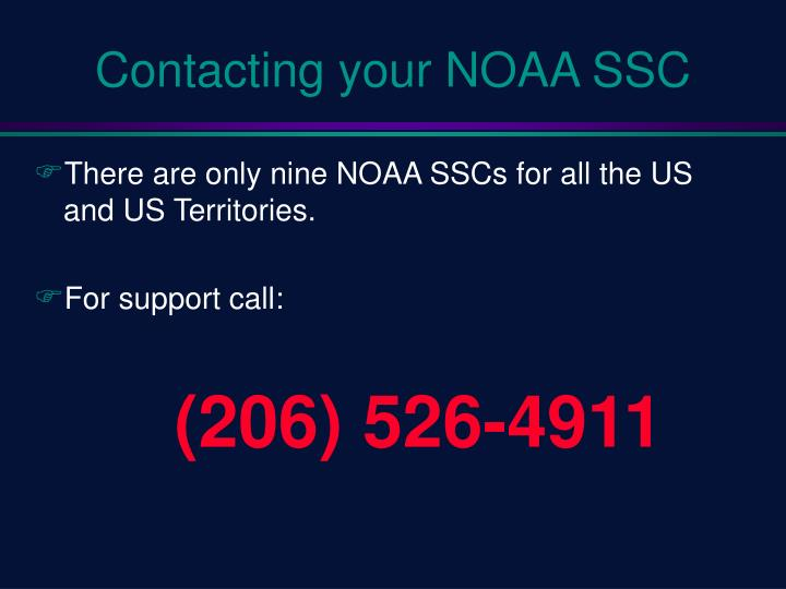 Contacting your NOAA SSC