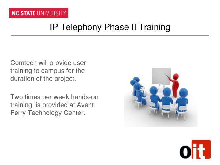 IP Telephony Phase II Training