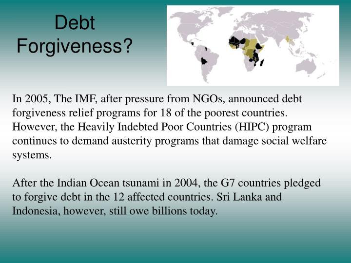 Debt Forgiveness?