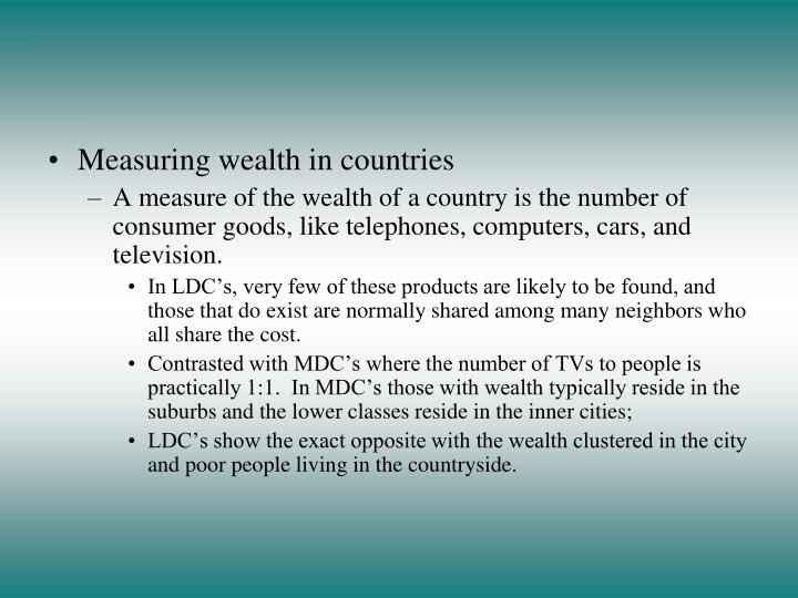 Measuring wealth in countries