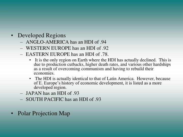 Developed Regions