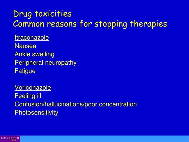 Drug toxicities
