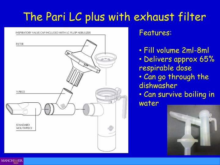 The Pari LC plus with exhaust filter