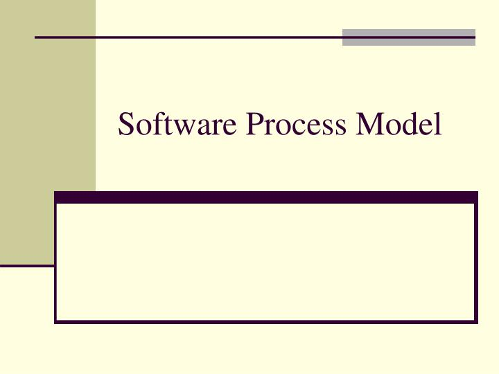 software process model n.
