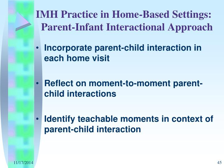 IMH Practice in Home-Based Settings: