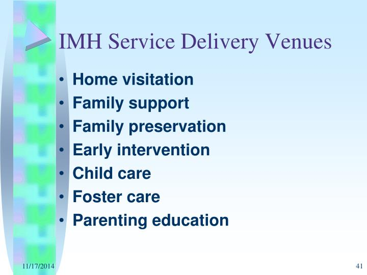 IMH Service Delivery Venues