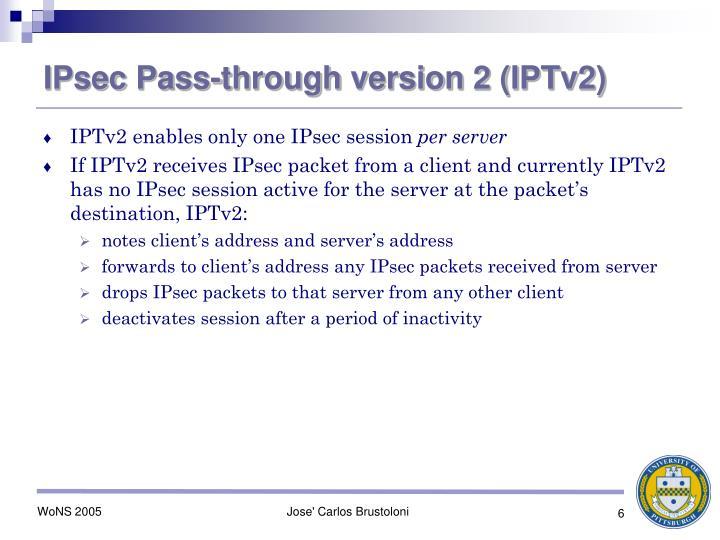 IPsec Pass-through version 2 (IPTv2)
