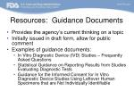 resources guidance documents