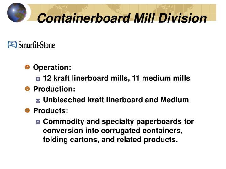 Containerboard Mill Division