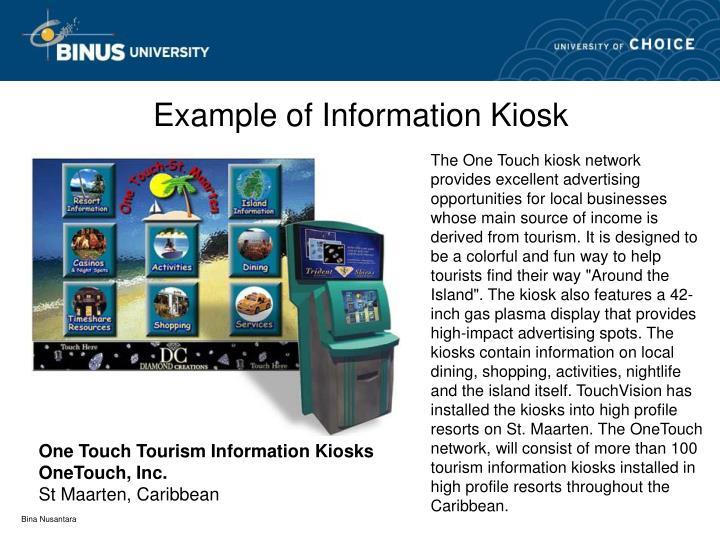 Example of Information Kiosk