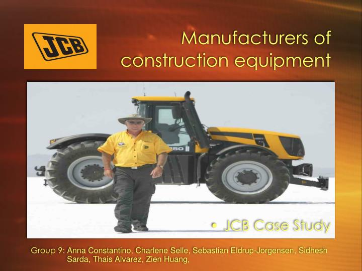 Manufacturers of construction equipment