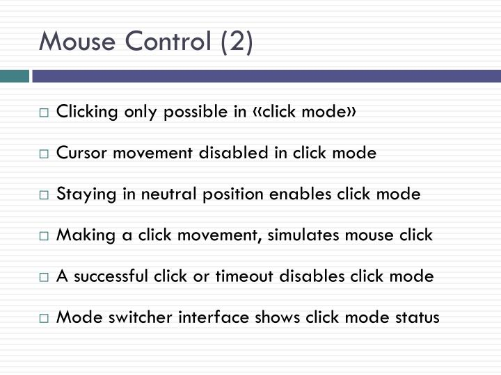 Mouse Control (2)