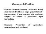 commercialization