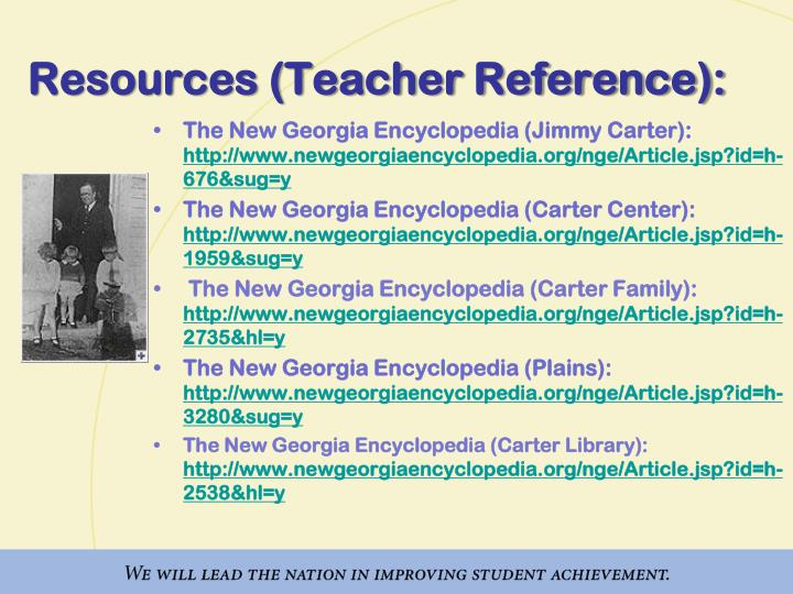 Resources (Teacher Reference):
