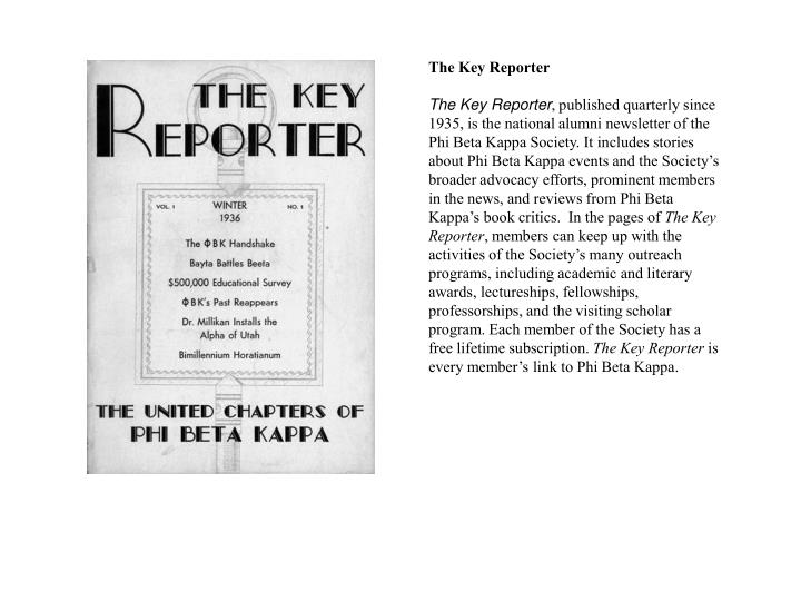 The Key Reporter