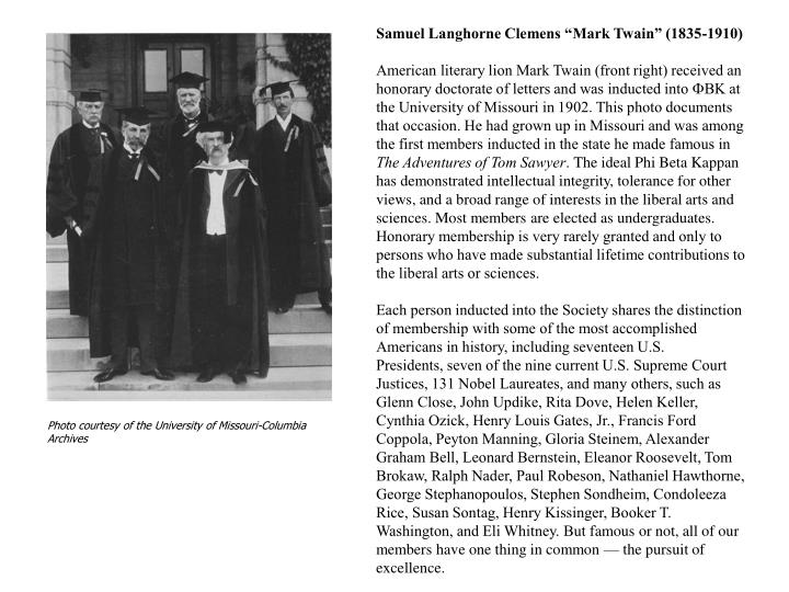 "Samuel Langhorne Clemens ""Mark Twain"" (1835-1910)"
