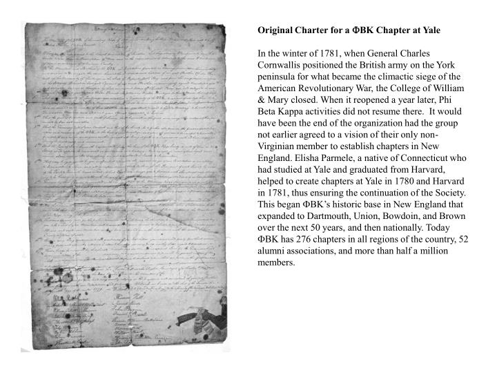 Original Charter for a