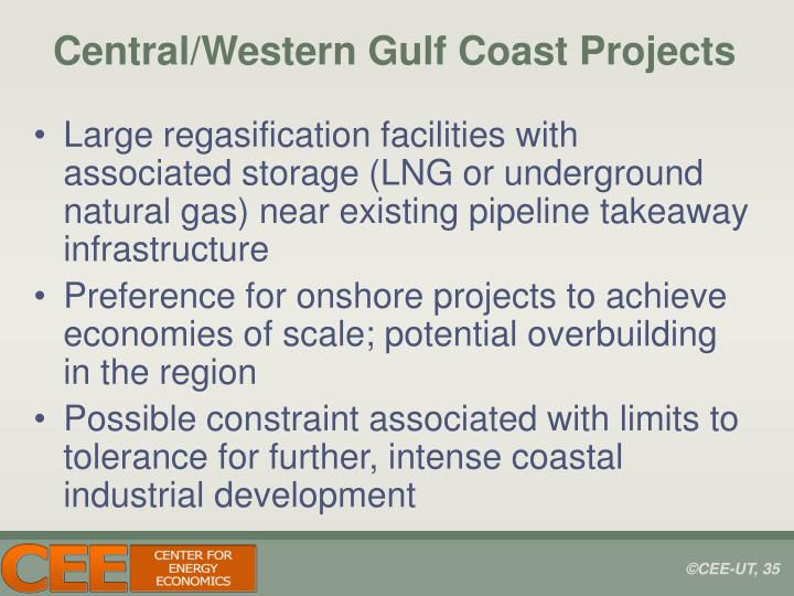 Central/Western Gulf Coast Projects