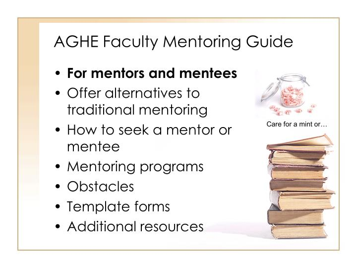 Aghe faculty mentoring guide