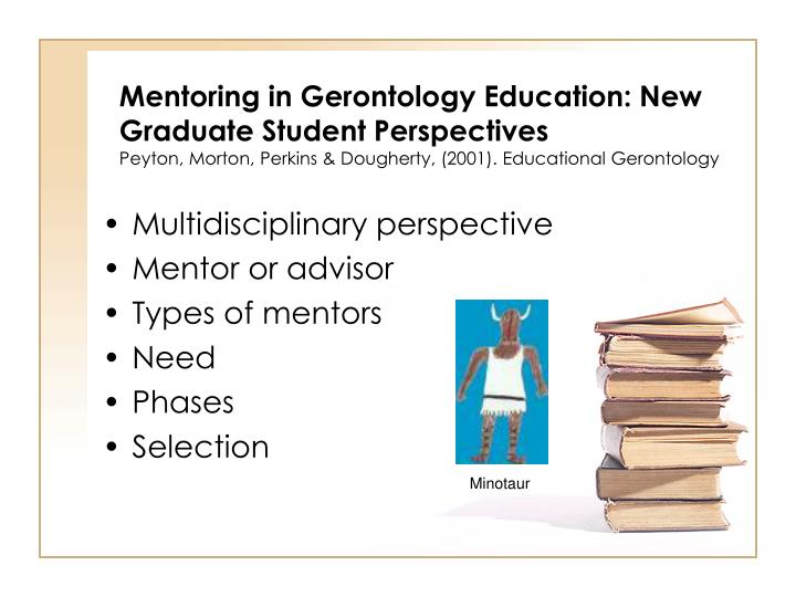 Mentoring in Gerontology Education: New Graduate Student Perspectives