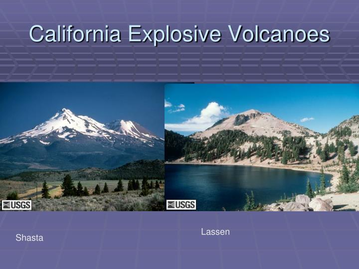 California Explosive Volcanoes