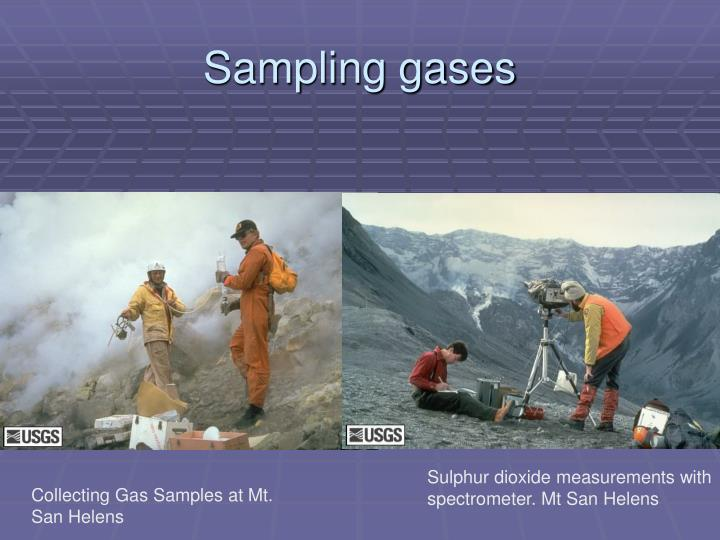 Sampling gases