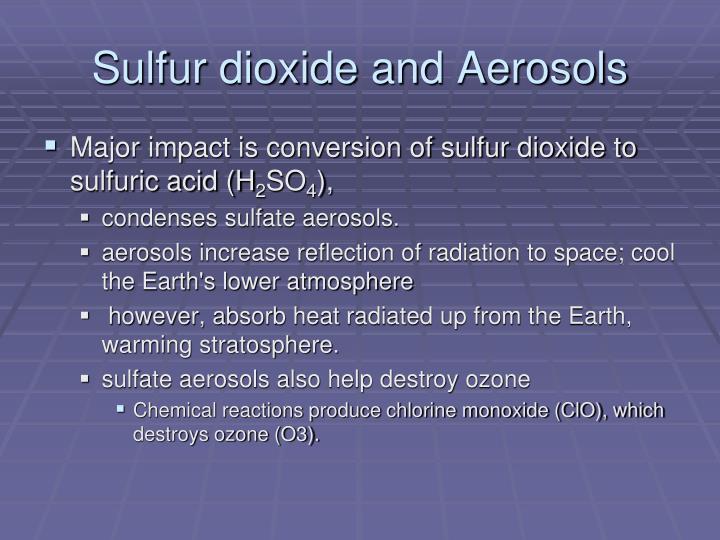 Sulfur dioxide and aerosols