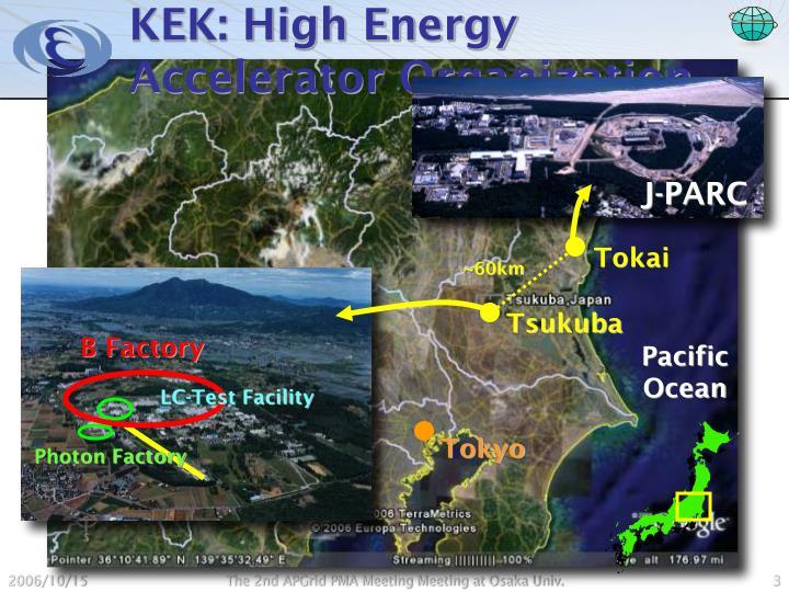 Kek high energy accelerator organization