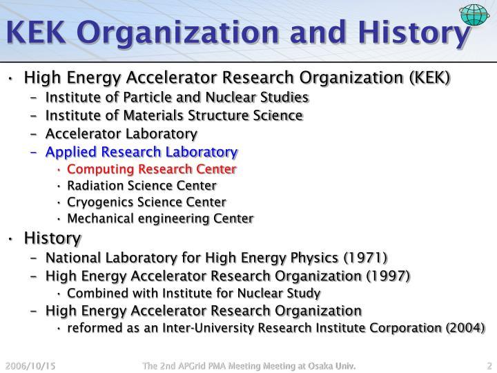 Kek organization and history