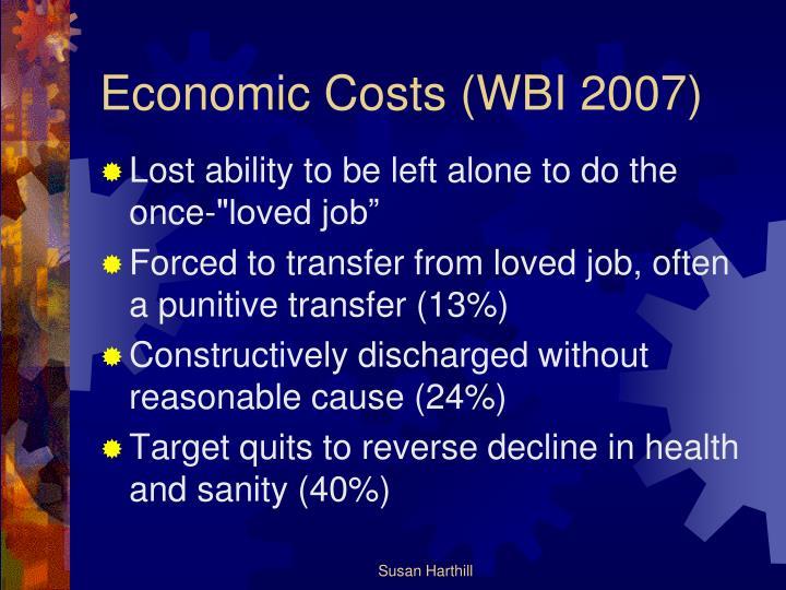 Economic Costs (WBI 2007)