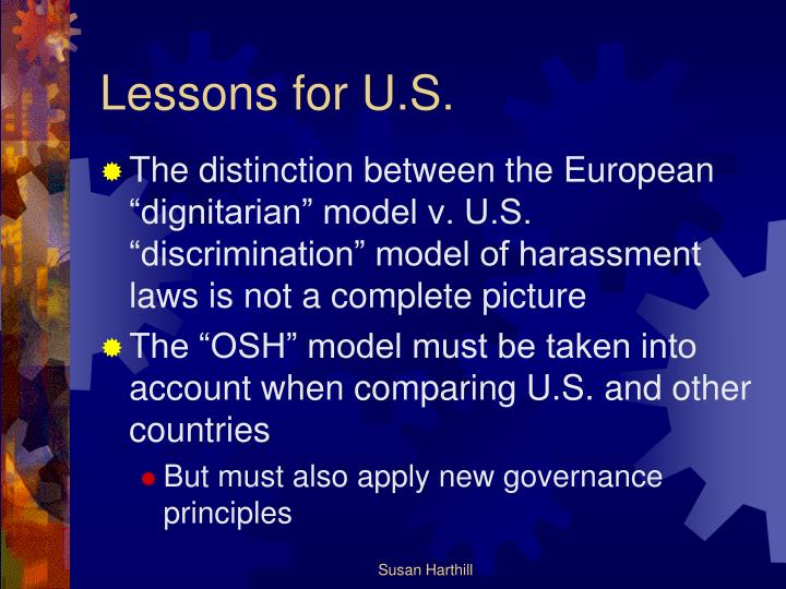 Lessons for U.S.