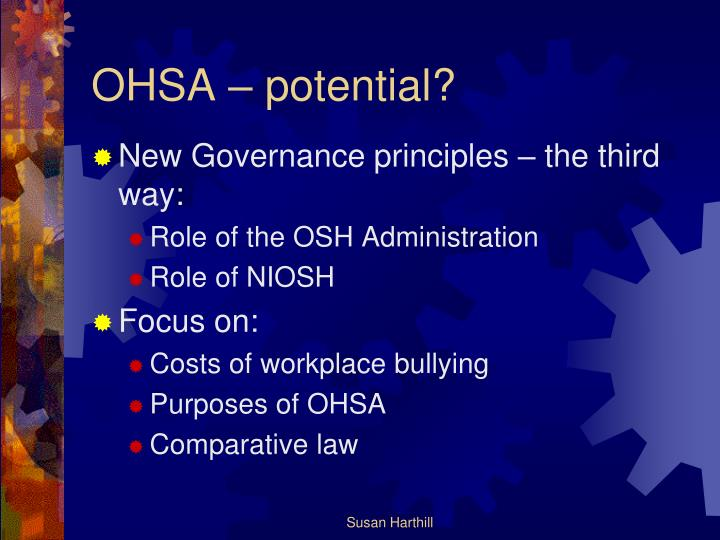 OHSA – potential?