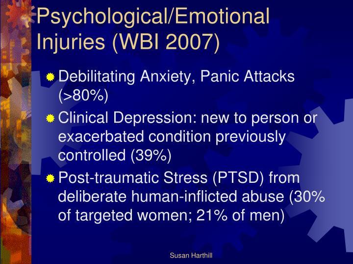 Psychological/Emotional Injuries (WBI 2007)