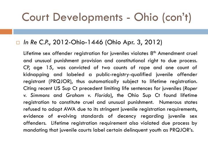 Court Developments - Ohio (