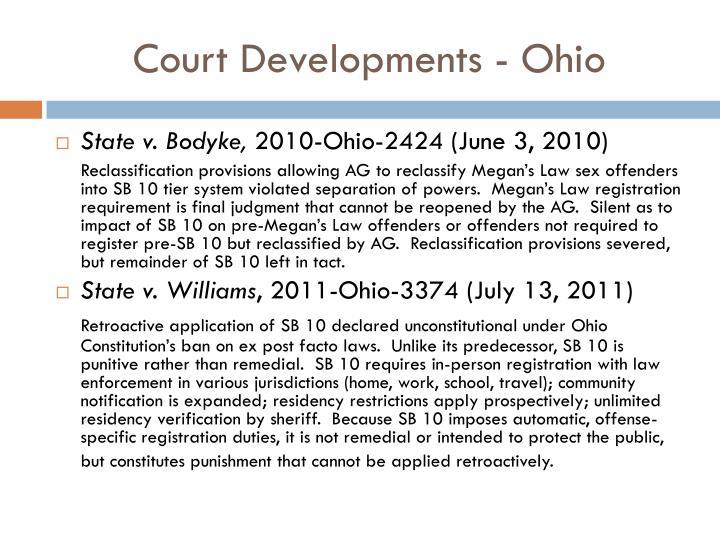 Court Developments - Ohio