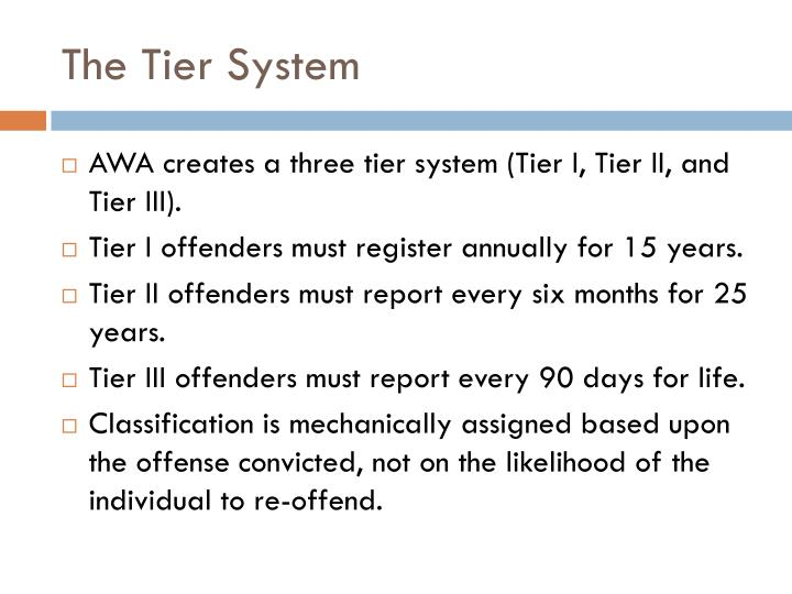 The Tier System