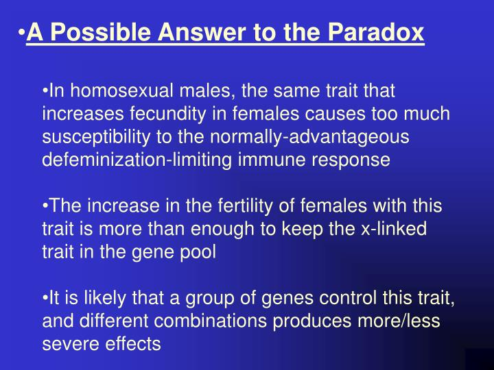 A Possible Answer to the Paradox