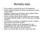 mortality data