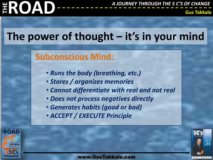 The power of thought – it's in your mind